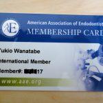 AAEの会員カードが到着